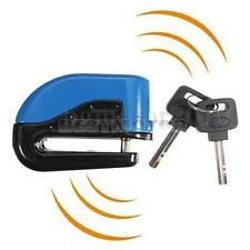 Motorcycle Bicycle ATV Scooter Anti-theft Disc Disk Brake Wheel Alarm Lock Blue