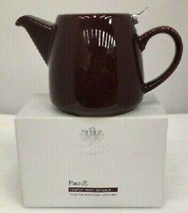 "Whittard of Chelsea ""Pao"" 650ml Tea Pot (Plum / Burgundy) With Stainless Infuser"