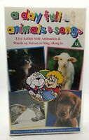 A Day Full Of Animals And Songs VHS Video Tape Cassette Vintage Childrens TBLO s