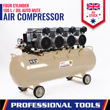 Oil-Free Mute Air Compressor 100L x 4 Cylinder 750w Noiseless Garage Workshop