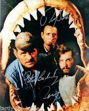 Jaws Cast  8 x 10 Autograph Reprint Roy Scheider Richard Dreyfuss Peter Benchley