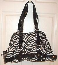 Womens ZEBRA SHOULDER BAG~NEW~Tote Handbag Pocketbook~Black White Patent Leather