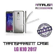 COVER TRASPARENTE PER LG K10 2017 CUSTODIA SILICONE TPU TRANSPARENT CASE 0,3mm
