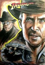 2008 Topps Indiana Jones Heritage Sketch Card Cynthia Cummens WOW COLOR RAIDERS