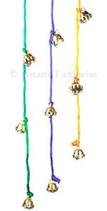 1 x CELESTIAL BELLS Brass on a string RED Wicca Pagan Witch Goth Druid