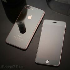 Mirror Front & Back Jet Black Tempered Glass Protector for Apple iPhone 7 Plus