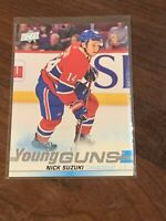 2019-20 UPPER DECK #471 NICK SUZUKI YG RC UD YOUNG GUNS ROOKIE CANADIENS