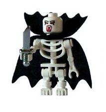 Custom Minifigura Vampiro Skeleton con capa y Daga Impreso En Piezas Lego
