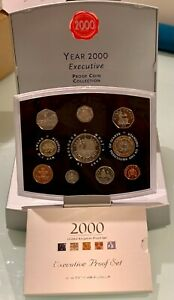 Royal Mint Year 2000 Executive Proof 10 Piece Coin Collection With booklet + COA