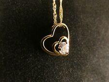 Anhänger 24 Karat Gold Herz Strass Liebe Love Halskette Schmuck Design Deluxe
