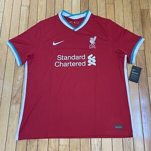 NWT Nike Liverpool FC 2020/21 Stadium Red Home Jersey Mens Size XXL (CZ2636-687)