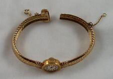 Vintage 1963 Gubelin Women's Wrist Watch 18K Gold Felsa 17 Jewel 22 Calibre