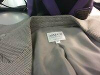 Armani collezioni BLACK N GREY CHECKERED Suit BLAZER JACKET Women's SIZE 8