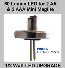 MINI MAGLITE LED UPGRADE Conversion 2 AA or AAA Cell Torch 1/2 Watt Philips Bulb