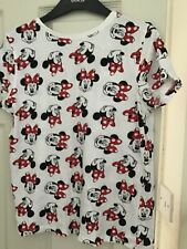 LADIES MINNIE MOUSE T SHIRT SIZE UK 12  FROM PRIMARK ONLY WORN A COUPLE OF TIMES