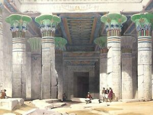 DAVID ROBERTS 1847 1st Folio H/C Large Litho GRAND PORTICO PHILAE NUBIA EGYPT