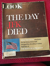 Vintage LOOK Magazine Back Issue February 7 1967 The Day JFK Died Kennedy