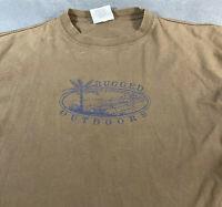Vintage Bugle Boy Rugged Outdoor T-shirt Brown Large L