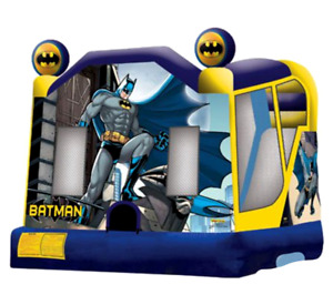 30x30x20 Commercial Inflatable Batman Slide Bounce House Obstacle Course Combo