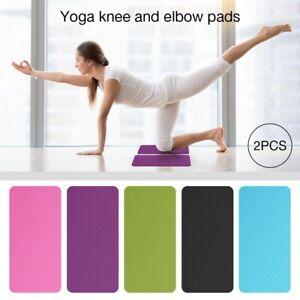 2pcs Yoga Knee Pad Anti-Slip Indoor Sport Travel Exercise Mat Fitness Home Gym