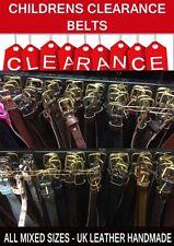 100pcs - Mixed Colour Sizes Wholesale Job Lot Kids Clearance UK Leather Belts