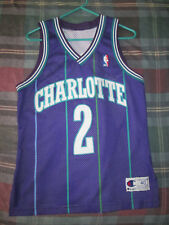 **Vintage Authentic Champion Larry Johnson Charlotte Hornets Jersey 40**