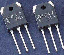 2 Pairs New 2SB817 2SD1047 B817 D1047 Transistors Sanyo