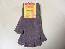 femmes dames gris THERMIQUE Mitaines Gants extensibles - Taille Unique -