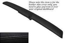 Negro Stitch Top Dash Pad Panel cubierta de cuero se adapta a Ford Mustang 1971-1973