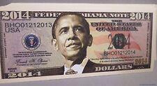 WHOLESALE LOT of 100 PRESIDENT BARACK OBAMA 2014 FAKE NOVELTY MONEY USA DOLLAR