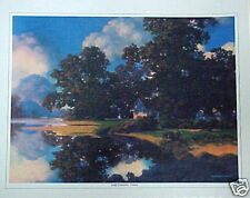 "70's Maxfield Parrish Landscape ""Sheltering Oaks"""