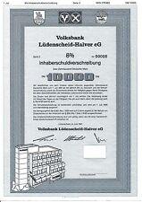 Volksbank Lüdenscheid - Halver IHS 1991 im Märkischen Kreis Sauerland Wappen