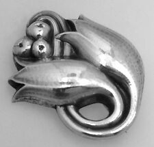 Georg Jensen Tulip Brooch Pin 1945 Sterling Silver