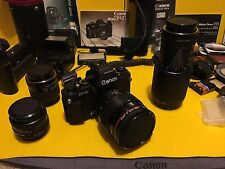 Canon Camera f-1 And Lens FD 85mm 1:1.2, Zoom FD 80-200mm 1:4 ,huge lot