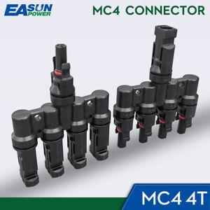 1 Paar 4T Stecker M/FM solar panel photovoltaik anschluss Zweig weg stecker IP67