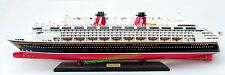 "DISNEY WONDER Ocean Liner Cruise Ship Model 32"" - Handcrafted Wooden Model NEW"