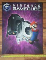 Nintendo Gamecube Super Mario Video Game Store Display Category Promo Sign 2005
