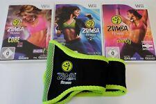 Zumba Fitness Teil 1 & 2 & Core Nintendo Wii mit Gürtel