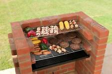 BUILT IN BRICK DIY BBQ KIT + Warming Rack + Safety Ember Guard - Black Knight