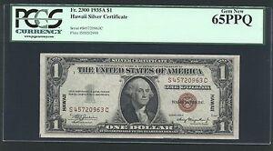 "U.S. 1935-A $1 ""HAWAII""  WWII EMERGENCY SILVER CERTIFICATE CERTIFIED PCGS 65-EPQ"