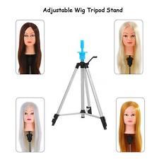Adjustable Wig Head Stand Tripod Holder Hairdressing Mannequin Head Tripod G6M3