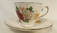 Vintage Tea Cup and Saucer- Royal Vale Rose Floral - Made in England #8142