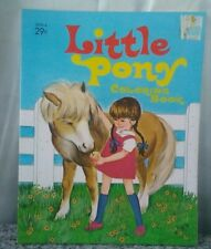 Vintage 1971 Little Pony Coloring Book