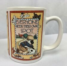 "Mary Engellbreit Coffee/Tea Mug/Cup Everybody Needs Their Own Spot About 4"" Tall"