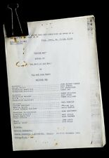 BBC DOCTOR WHO -MARK OF THE RANI- 1984 SERIES 6X EPISODE 2 SCRIPT BY GLYN JONES