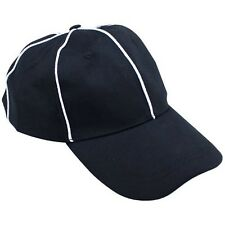 Official Black with White Stripes Referee Hat, Umpire Cap by Crown Sporting G.