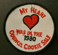 Lot of 4 Vtg Girl Scouts Patch My Heart Was in the 1980 Council Cookie Sale
