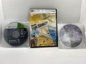 Microsoft Flight Simulator X Deluxe Edition W/ PC Xbox Xbox 360 Video Game Lot