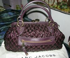Marc Jacobs Purple Quilted Leather Stam Bag