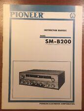 PIONEER SM-B200 STEREO TUNER-AMPLIFIER ORIGINAL INSTRUCTION MANUAL P033